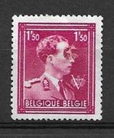 OBP691, Met Scharnier*, Met Grote Vlek Op Oog Van Koning Leopold III - Errors And Oddities