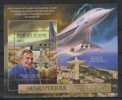 J309. Guinea - MNH - 2012 - Transport - Airplanes - Henri Perrier - Bl. - Verkehr & Transport