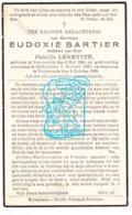 DP Eudoxie Bartier ° Voormezele Ieper 1864 † Helkijn 1939 X Camille Lermytte/ Begr. Voormezele - Imágenes Religiosas