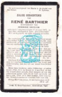 DP René Barthier Bartier ° Langemark 1871 † Ieper 1921 X Herminie Defever - Imágenes Religiosas
