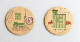 Sous-bock Bière DAB Dortmunder Brauerei, Timbre 1964 Beer Mat Bierdeckel Coaster - Sous-bocks