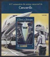B309. Sao Tome & Principe - MNH - 2016 - Transport - Airplanes - Concorde - Bl. - Verkehr & Transport