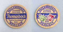Sous-bock Bière Paulaner Brauerei München Timbre 1961 Beer Mat Bierdeckel Coaster - Sous-bocks