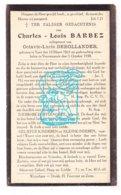 DP Charles L. Barbez ° Ieper 1863 † Voormezele 1938 X Octavie L.DeHollander - Imágenes Religiosas