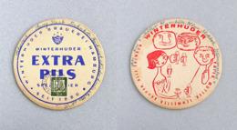 Sous-bock Bière Winterhuder Brauerei Hamburg Timbre 1961 Beer Mat Bierdeckel Coaster - Sous-bocks