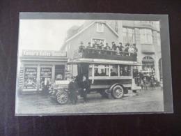 Fotokarte Autobus Vor Kaisers-Kaffee-Geschäft Dhünn - Wermelskirchen Stempel Hilgen 1910 - Wermelskirchen