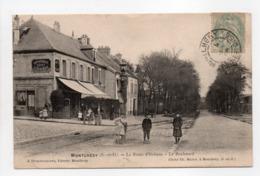 - CPA MONTLHÉRY (91) - La Route D'Orléans - Le Boulevard (HOTEL DU CHEVAL BLANC) - Edition DESGOUILLONS - - Montlhery