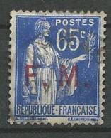 TIMBRE DE FRANCHISE 1937  - N° 8  Oblitere - Franchise Militaire (timbres)