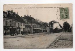 - CPA MONTLHÉRY (91) - Station Du Tramway Arpajonnais - Petit Montlhéry Et Le Boulevard - Edition DESGOUILLONS N° 14 - - Montlhery