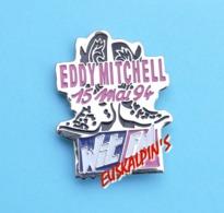 Pin's Radio WIT FM BORDEAUX, Concert D'Eddy MITCHELL à BORDEAUX, Mai 1994 - Medien