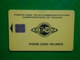 Télécarte Ghana, 08/95 194 000ex Utilisé, Traces, 9 Très Gros Numéros Emboutis, état Courant - Ghana