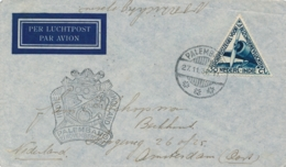 Nederlands Indië - 1937 - 30c Luchtpost Op 500e Vlucht Van Palembang Naar Amsterdam - Indes Néerlandaises