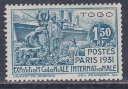 Togo N° 164 XX  : Partie De Série : Exposition Coloniale De Paris : 1 F. 50 Bleu Sans Charnière, TB - Unused Stamps