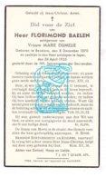 DP Florimond Baelen ° Beselare Zonnebeke 1870 † Ieper 1935 X Marie Dumelie - Imágenes Religiosas