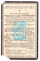 DP Franciscus L. Anthonissen ° Wuustwezel 1858 † 1925 - Imágenes Religiosas