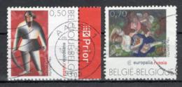 BELGIE: COB 3430/3431 Gestempeld. - Gebraucht