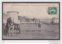 62) Boulogne Sur Mer.- La Plage Et Les Cabines De Bains  - (beau Plan De Cabine Roulante Attelée A Un Cheval) - Boulogne Sur Mer