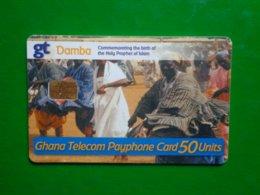 Télécarte Ghana, Gt Damba Utilisé, Traces,  Numéros Rouge , état Courant - Ghana