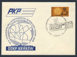Poland Polska Polen 1972 Brief Cover – XXX Nationale Fahrplan Konferenz - PKP / National Timetable Conference - Treinen