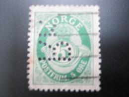 NORWEGEN   ,  FIRMENLOCHUNG , Perfin , 2 Scans  , Selten - Norwegen