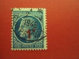 """1945-47 CERES De Mazelin, Timbre N°791    Oblitéré, """"  1f30 Surchargé Rouge, Fond Bleu   """"     Net 0.50 - 1945-47 Ceres Of Mazelin"""