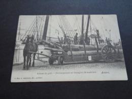 Belgique  België  ( 1593 )  Anvers  Antwerpen  Déchargement Et Transport De Madriers - Antwerpen