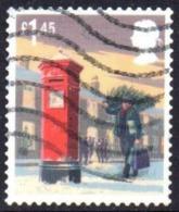 GROSBRITANNIEN GRANDE BRETAGNE GB 2018 MAN CARRYING A SMALLER CHRISTMAS TREE POSTBOX £1.45 USED SG 4159 MI 4308 YT 4720 - 1952-.... (Elizabeth II)