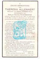 DP Theresia Allewaert ° Boezinge 1863 † Zuidschote 1937 X H. Versaevele Xx B. Thierssoone - Imágenes Religiosas