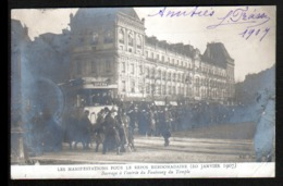 75, Paris, Les Manifestations Pour Le Repos Hebdomadaire (20 Janv 1907), Barrage à L'entree Du Faubourg Du Temple - France
