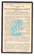 DP Sylveer P. Allaeys 36j. ° Voormezele Ieper 1900 † Beernem 1937 X Germaine Goudezeune - Imágenes Religiosas