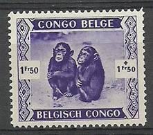 Belgian Congo 1939 Mi 187 MNH ( LZS6 BCO187 ) - Scimmie