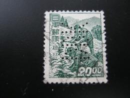 JAPAN  ,  FIRMENLOCHUNG , Perfin , 2 Scans  , Selten - 1926-89 Emperor Hirohito (Showa Era)