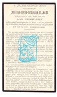 DP Leontina M. Allaeys ° Poperinge 1856 † OostVleteren 1929 X Dokter Achiel Grimmelprez - Imágenes Religiosas