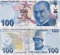 TURKEY, 100 Turkish Lira, 2017, P226c, Series D, UNC - Türkei