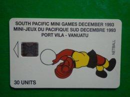 Rare Télécarte Vanuatu 30 Unités, 10/93, 3000ex, Petit Impact Sous Le 3, Coin Bas A Gauche, Jauni Recto Et Verso ??? - Vanuatu