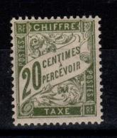 Taxe YV 31a N* Papier GC Cote 15 Euros - 1859-1955 Neufs