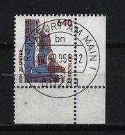 BUND Mi-Nr. 1811 Rechtes Unteres Randstück Dom Zu Speyer Gestempelt - BRD