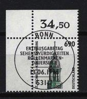 BUND Mi-Nr. 1860 Linkes, Oberes Eckrandstück St. Michaelis-Kirche, Hamburg Gestempelt - BRD