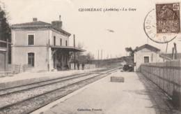 CPA:CHOMÉRAC (07) LA GARE.ÉCRITE - Otros Municipios