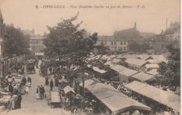 CPA:FIVES LILLE (59) MARCHÉ PLACE MADELEINE CAULIER...ÉCRITE - Francia