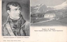 HOSPICE DU SIMPLON - BONAPARTE NAPOLEONE I FONDATEUR DE L'HOSPICE ~ AN OLD POSTCARD #99848 - VS Valais