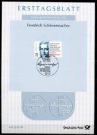 """Germany,Bund 2018  ETB 40/2018 Mi.Nr.3419  """"250.Geburtstag Von Friedrich Schleiermacher,Theologe,Reformer """"1 Big ETB - Theologen"""