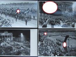 4x Sammelbild (Großformat) Propaganda 3. Reich Hitler NSDAP (no Postcards) - Weltkrieg 1939-45
