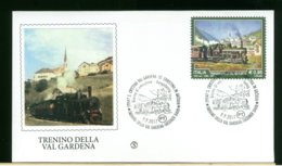 ITALIA - FDC 2017 -  SANTA CRISTINA VAL GARDENA - TRENINO DELLA VAL GARDENA - GRODNER BAHN - 6. 1946-.. Republic