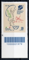 Italia 2019 - Federazione Ginnastica D'Italia Codice A Barre MNH ** - 6. 1946-.. República