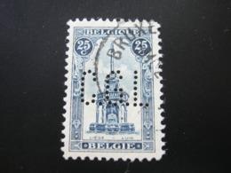BELGIEN  ,  FIRMENLOCHUNG , Perfin , 2 Scans  , Selten - 1934-51