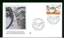 ITALIA - FDC 2017 -  CAGLIARI - SETTIMANA SOCIALE DEI CATTOLICI ITALIANI - 6. 1946-.. Republic