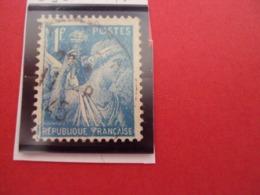 "1944-IRIS, Timbre Oblitéré N° 650    ""   1f Bleu Clair  ""     Net   0.30 - 1939-44 Iris"