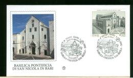 ITALIA - FDC 2017 -  BARI - BASILICA PONTIFICIA DI SAN NICOLA IN BARI - 6. 1946-.. Republic