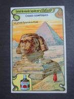 CHROMO. Bouillon CIBILS.  Choses Gigantesques. Sphinx. Grande Pyramide De GIZEH. Egypte - Old Paper